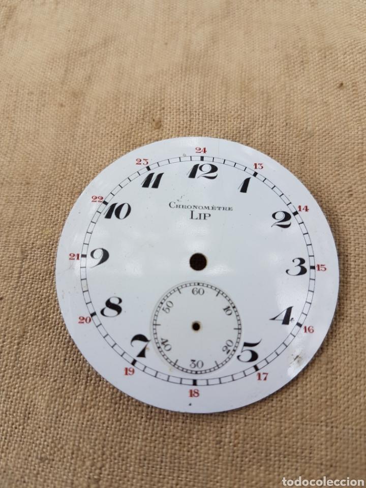 ESFERA CENTRAL PORCELANA RELOJ DE BOLSILLO CHRONOMETRE LIP (Relojes - Bolsillo Carga Manual)