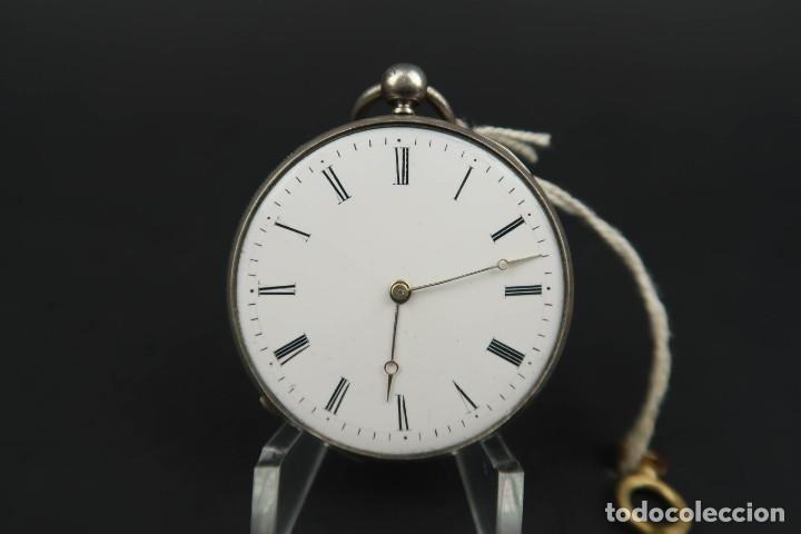 ANTIGUO RELOJ DE BOLSILLO DE PLATA (Relojes - Bolsillo Carga Manual)