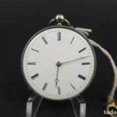 Relojes de bolsillo: ANTIGUO RELOJ DE BOLSILLO DE PLATA. Lote 203052397
