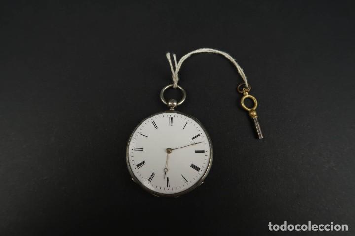Relojes de bolsillo: Antiguo Reloj de Bolsillo de Plata - Foto 2 - 203052397