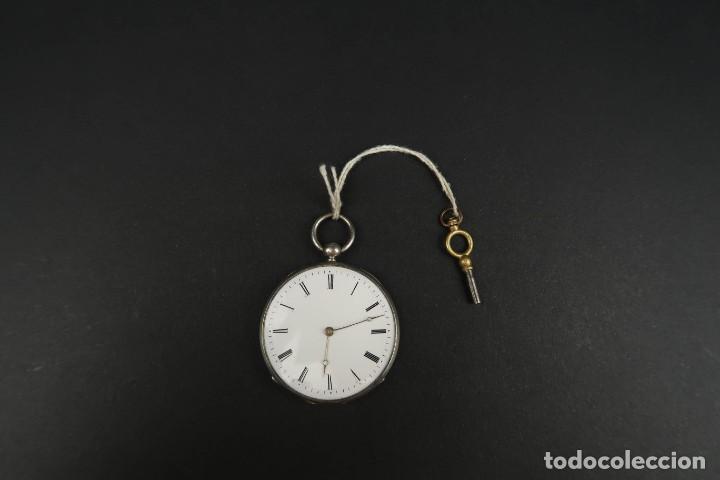 Relojes de bolsillo: Antiguo Reloj de Bolsillo de Plata - Foto 3 - 203052397