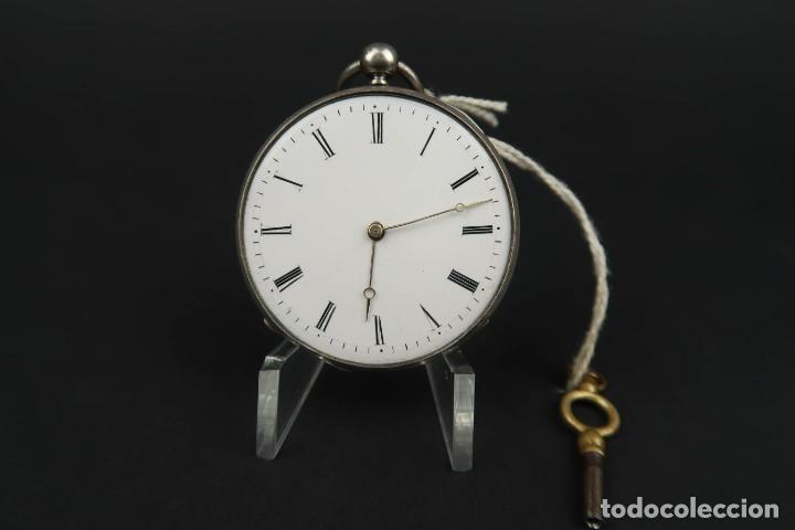 Relojes de bolsillo: Antiguo Reloj de Bolsillo de Plata - Foto 4 - 203052397