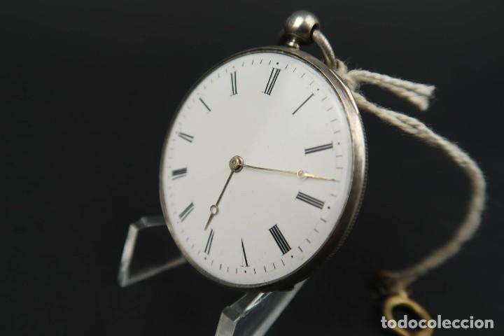 Relojes de bolsillo: Antiguo Reloj de Bolsillo de Plata - Foto 5 - 203052397