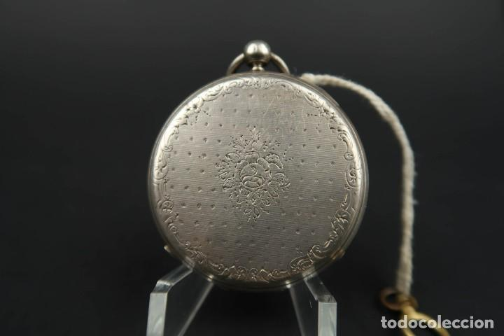 Relojes de bolsillo: Antiguo Reloj de Bolsillo de Plata - Foto 6 - 203052397