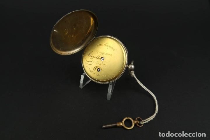 Relojes de bolsillo: Antiguo Reloj de Bolsillo de Plata - Foto 8 - 203052397