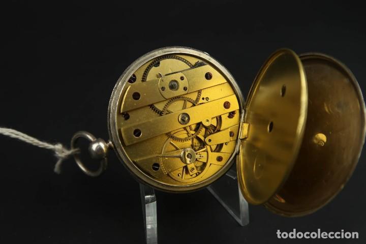 Relojes de bolsillo: Antiguo Reloj de Bolsillo de Plata - Foto 12 - 203052397