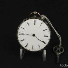 Relojes de bolsillo: ANTIGUO RELOJ DE BOLSILLO DE PLATA. Lote 203052471