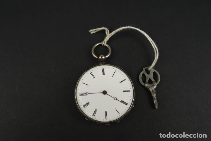 Relojes de bolsillo: Antiguo Reloj de Bolsillo de Plata - Foto 2 - 203052471