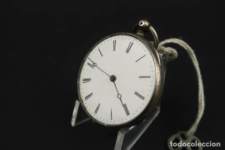 Relojes de bolsillo: Antiguo Reloj de Bolsillo de Plata - Foto 4 - 203052471