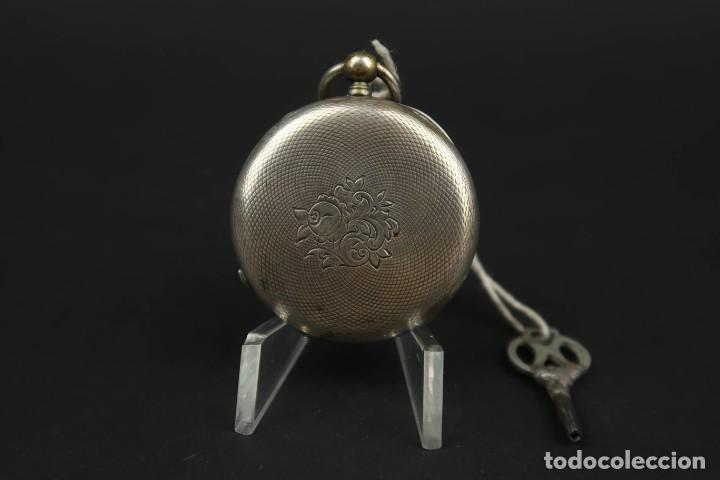 Relojes de bolsillo: Antiguo Reloj de Bolsillo de Plata - Foto 5 - 203052471