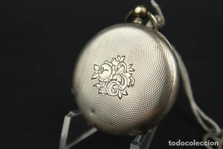 Relojes de bolsillo: Antiguo Reloj de Bolsillo de Plata - Foto 6 - 203052471