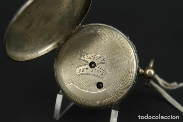 Relojes de bolsillo: Antiguo Reloj de Bolsillo de Plata - Foto 7 - 203052471