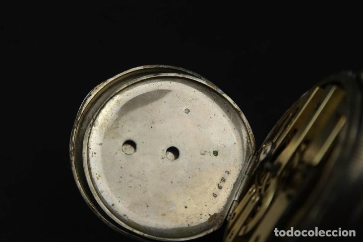 Relojes de bolsillo: Antiguo Reloj de Bolsillo de Plata - Foto 10 - 203052471