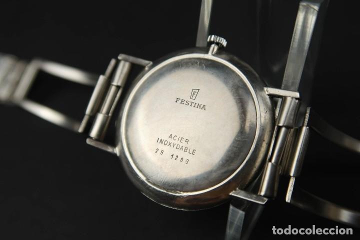 Relojes de bolsillo: Antiguo Reloj de Cuerda de la Marca Festina - Foto 7 - 203052697