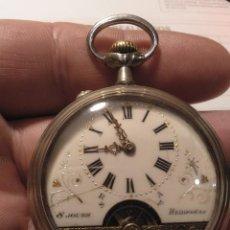 Relojes de bolsillo: RELOJ BOLSILLO HEBDOMAS NÚMEROS ROMANOS PERFECTO FUNCIONAMIENTO RESTAURADO POR PROFESIONAL ESFERA Y. Lote 203094657