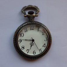Relojes de bolsillo: RELOJ DE BOLSILLO QUARTZ ESTILO VINTAGE DE CABALLOS. DIÁMETRO DEL RELOJ 45.7 MILÍMETROS.. Lote 203146047