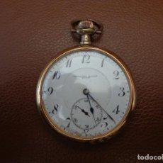 Relojes de bolsillo: RELOJ BOLSILLO GRAN ESFERA CHAPADO ORO CRONOMETRO MODERNO QUILLET.FUNCIONANDO. Lote 203337618