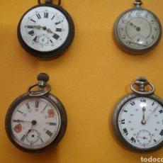 Relojes de bolsillo: LOTE DE 4 RELOJES DE BOLSILLO. NO FUNCIONAN.. Lote 203861492
