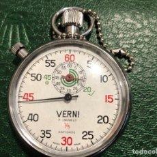 Relojes de bolsillo: CRONOMETRO DEPORTIVO MARCA VERNI FABRICADO EN SUIZA. Lote 203916848