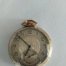 Relojes de bolsillo: ANTIGUO RELOJ BOLSILLO ELGIN NATL WATCH, CHAPADO ORO. Lote 203939777