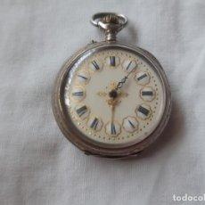 Orologi da taschino: RELOJ DE BOLSILLO, TIPO LEPINE, PLATA 800. MILÉSIMAS. CILINDRE 10 RUBÍS. ESTADO DE MARCHA.. Lote 204075676