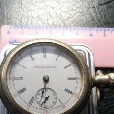 Relojes de bolsillo: EXTRAORDINARIO RELOJ FERROCARRILES JEFE ESTACIÓN HAMILTON, PRECIOSA MÁQUINA, VER FOTOS. Lote 204524151