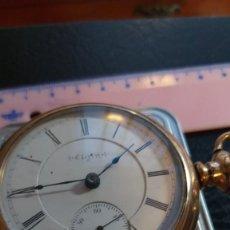 Relojes de bolsillo: EXTRAORDINARIO RELOJ BOLSILLO ELGIN WATCH CO FERROCARRILES, CAJA GOLD FILLED ALTA CALIDAD, VER FOTOS. Lote 204527493