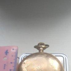 Relojes de bolsillo: EXTRAORDINARIO RELOJ BOLSILLO ELGIN TRES TAPAS GOLD FILLED PRECIOSA MÁQUINA, VER FOTOS. Lote 204529326