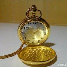 Relojes de bolsillo: NUEVO RELOJ DE BOLSILLO CON LEONTINA. Lote 204697788