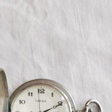Relojes de bolsillo: 29-SABONETA BOLSILLO FARIBA, BASIS WATCH, SWISS,17 RUBÍS UNADJUSTED, CON CALENDARIO. FUNCIONA. Lote 204726706