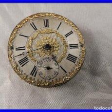Relojes de bolsillo: MAQUINARIA DE RELOJ DE BOLSILLO HUGUENIN POST. Lote 204786465