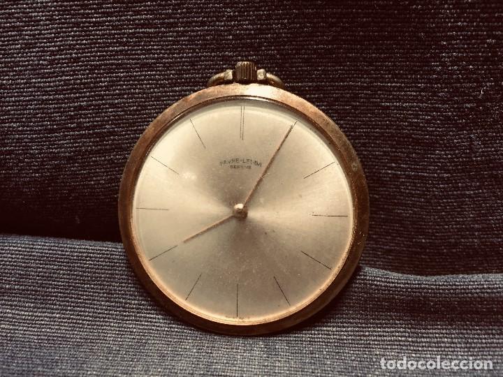 RELOJ BOLSILLO PLANO CHAPADO ORO FAVRE LEUBA GENEVE GINEBRA SUIZA SWISS WATCH 45MM (Relojes - Bolsillo Carga Manual)