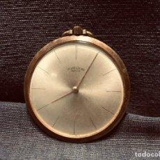 Relojes de bolsillo: RELOJ BOLSILLO PLANO CHAPADO ORO FAVRE LEUBA GENEVE GINEBRA SUIZA SWISS WATCH 45MM. Lote 205257307