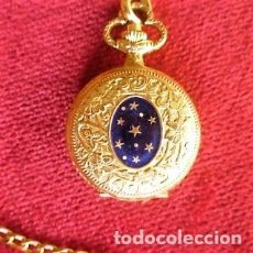 Relojes de bolsillo: RELOJ DE BOLSILLO PLIMON CHAPADO EN ORO CON TAPA ESMALTADA DE CUERDA MANUAL - SIN ESTRENAR, FUNCIONA. Lote 181555997