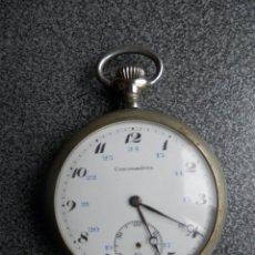 Relojes de bolsillo: RELOJ DE BOLSILLO MARCA CRONOMETRE 50 MILÍMETROS - ANTIGUO. Lote 205605695