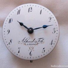 Relojes de bolsillo: MAQUINA Y ESFERA RELOJ CATALINO VERGE FUSEE SIGLO XVIII. Lote 206170062