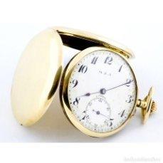 Relojes de bolsillo: C.COPPEL PARA MZA. RELOJ DE BOLSILLO, SABONETA Y REMONTOIR. CA. 1890. ORO 18K.. Lote 206253463