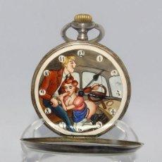 Relojes de bolsillo: RELOJ SUIZO ERÓTICO DE BOLSILLO, LEPINE Y REMONTOIR. CA. 1925. Lote 206257551