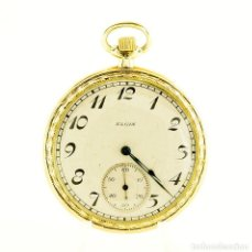 Relojes de bolsillo: ELGIN NATL. WATCH CO. (USA). RELOJ DE BOLSILLO PARA CABALLERO, LEPINE Y REMONTOIR. CA. 1921 ORO 14K.. Lote 206372856
