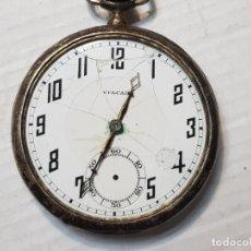 Relojes de bolsillo: RELOJ BOLSILLO VULCAIN PLATA 925 NUMERADO PARA REPARAR O PIEZAS. Lote 206387715