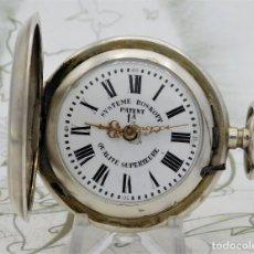 Relojes de bolsillo: INUSUAL-SYSTEME ROSKOPF PATENT 1ª QUALITÉ SUPERIOR-SABONETA DE PLATA-CIRCA 1890-1900-FUNCIONANDO. Lote 206524931