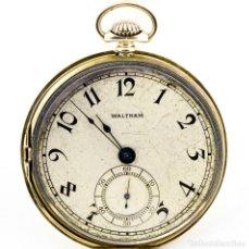 Relojes de bolsillo: WALTHAM (USA). RELOJ DE BOLSILLO PARA CABALLERO, LEPINE Y REMONTOIR. CA. 1919. ORO 14K.. Lote 206799675