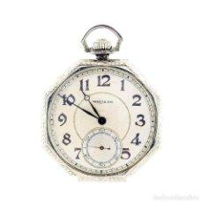 Relojes de bolsillo: WALTHAM, USA. RELOJ DE BOLSILLO DE CABALLERO. LEPINE Y REMONTOIR. CIRCA 1920. ORO BLANCO 14K.. Lote 206800028