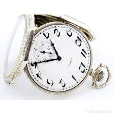 Relojes de bolsillo: ELGIN. RELOJ DE BOLSILLO DE CABALLERO, LEPINE Y REMONTOIR. USA, 1923. ORO BLANCO 14K.. Lote 206904158