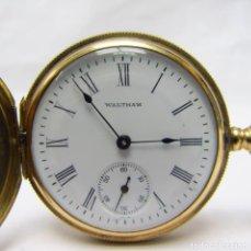 Relojes de bolsillo: WALTHAM. RELOJ DE COLGAR SABONETA Y REMONTOIR. USA, 1906. ORO 14K.. Lote 206905078
