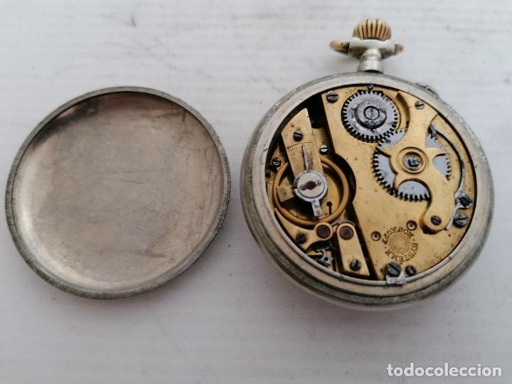 Relojes de bolsillo: RELOJ DE BOLSILLO, SISTEMA ROSKOFF- ESTER PATENT 1ª, 1911, DIAMETRO 5,4 CM, FUNCIONA BIEN - Foto 2 - 206929135