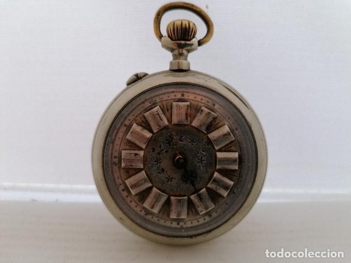 RELOJ DE BOLSILLO, SISTEMA ROSKOFF- ESTER PATENT 1ª, 1911, DIAMETRO 5,4 CM, FUNCIONA BIEN (Relojes - Bolsillo Carga Manual)