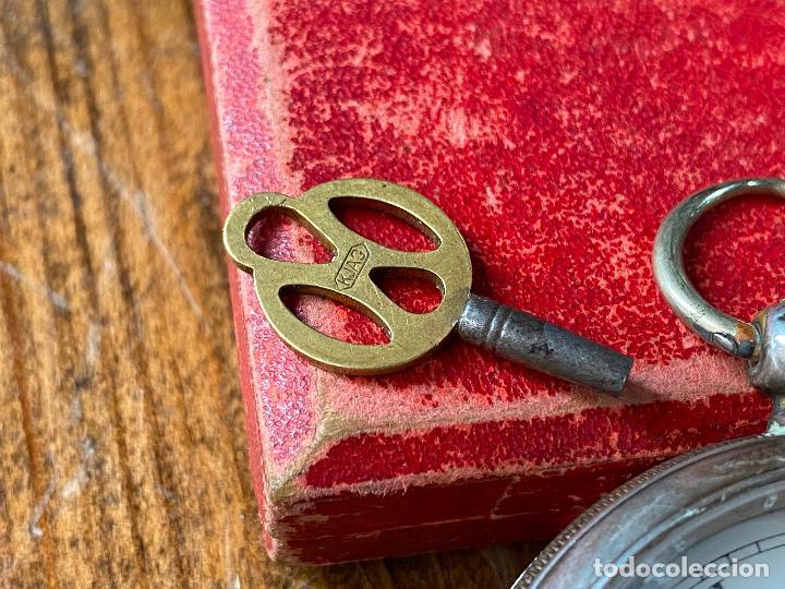 Relojes de bolsillo: Reloj de bolsillo con llave waltham mass funcionando - Foto 2 - 206932998