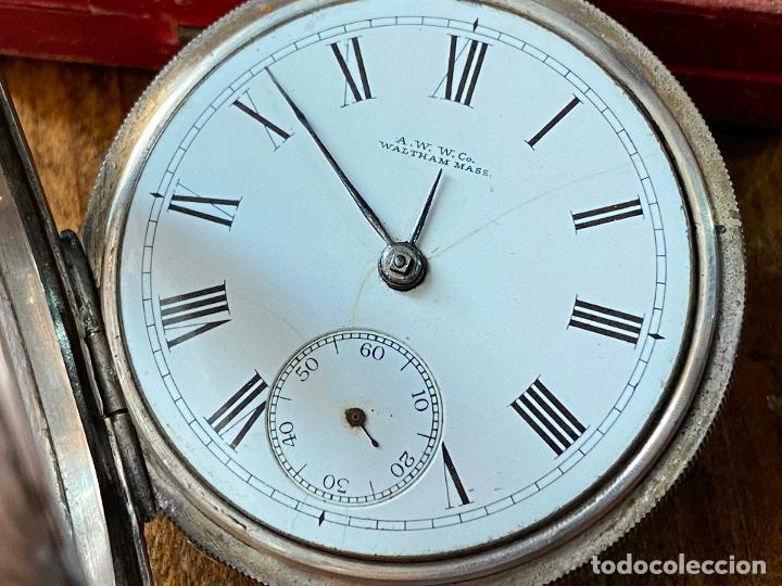 Relojes de bolsillo: Reloj de bolsillo con llave waltham mass funcionando - Foto 4 - 206932998