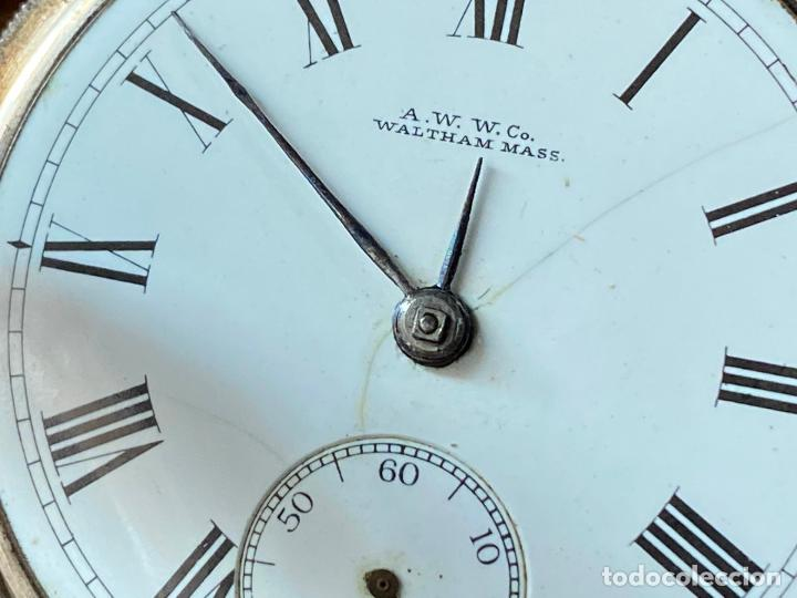 Relojes de bolsillo: Reloj de bolsillo con llave waltham mass funcionando - Foto 5 - 206932998